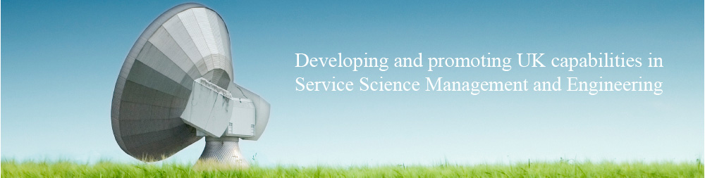 SSMEnetUK - developing and promoting UK capabilties in Service Science Management and Engineering